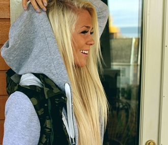 sweater hoodie coat grey camouflage white