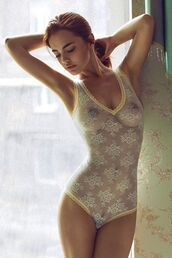 underwear,bodysuit,lace,white,sheer,gold,amazing,sexy,lace lingerie