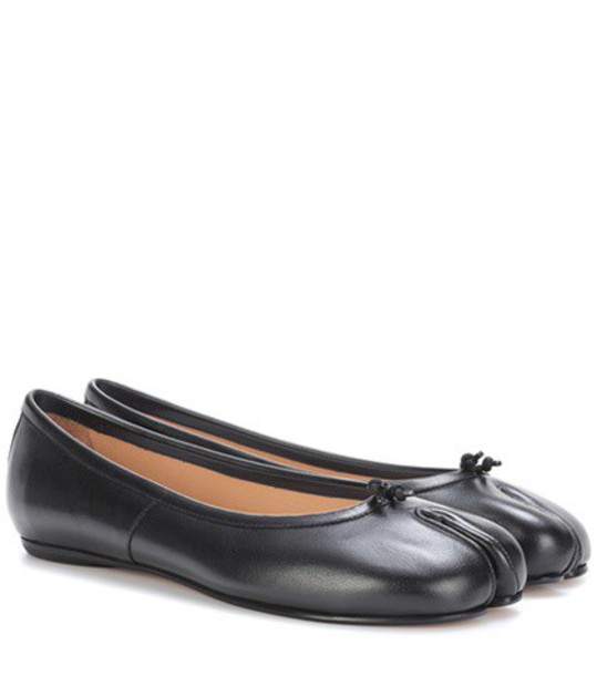 MAISON MARGIELA leather black shoes