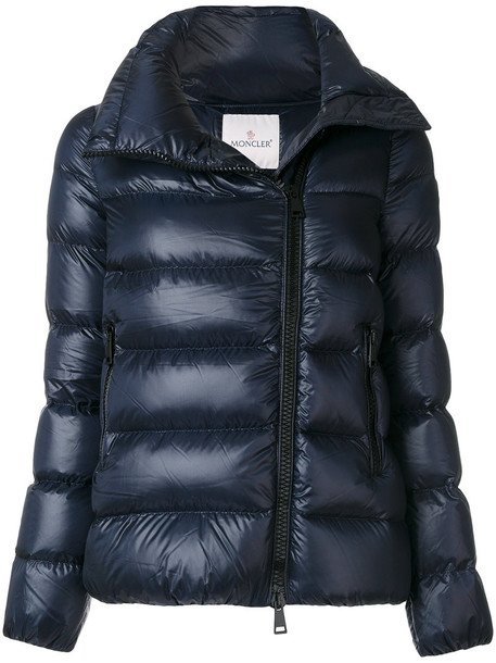 moncler jacket zip women blue