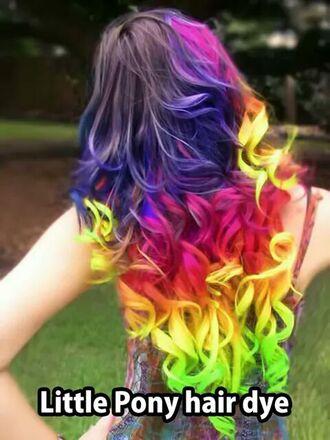 hair accessories rainbow rainbow pastel hair hairstyles hair dye hair colour gene_jacket