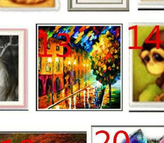 5D Paint with diamonds kit mosaic Paris lights street sceneDIY partially jeweled picture wall hanging art set trending now beautiful artwork
