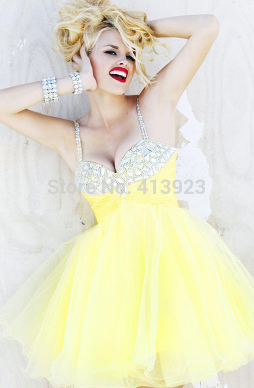 Aliexpress.com : Buy Free Shipping New Arrival Organza Spaghetti Rhinestone Homecoming Dress Patterns Stunning Short Long High Quality Cocktail Dress from Reliable dress super suppliers on Chaozhou City Xin Aojia dress Factory