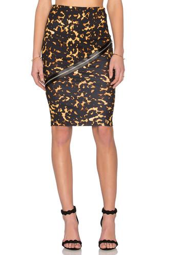 skirt zip black
