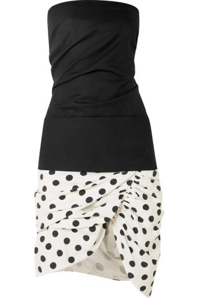 Jacquemus dress mini dress mini strapless cotton black