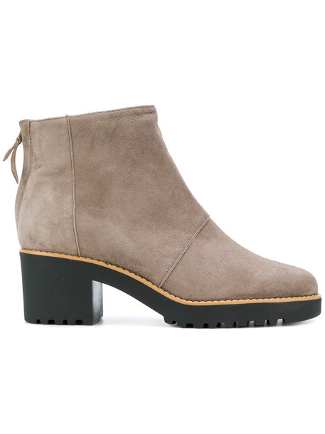 Hogan women ankle boots leather nude suede shoes