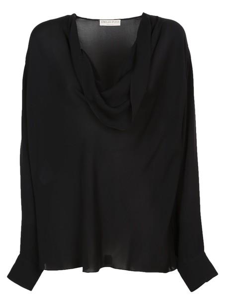 Emilio Pucci blouse black top