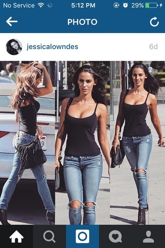 top jessica lowndes black cute