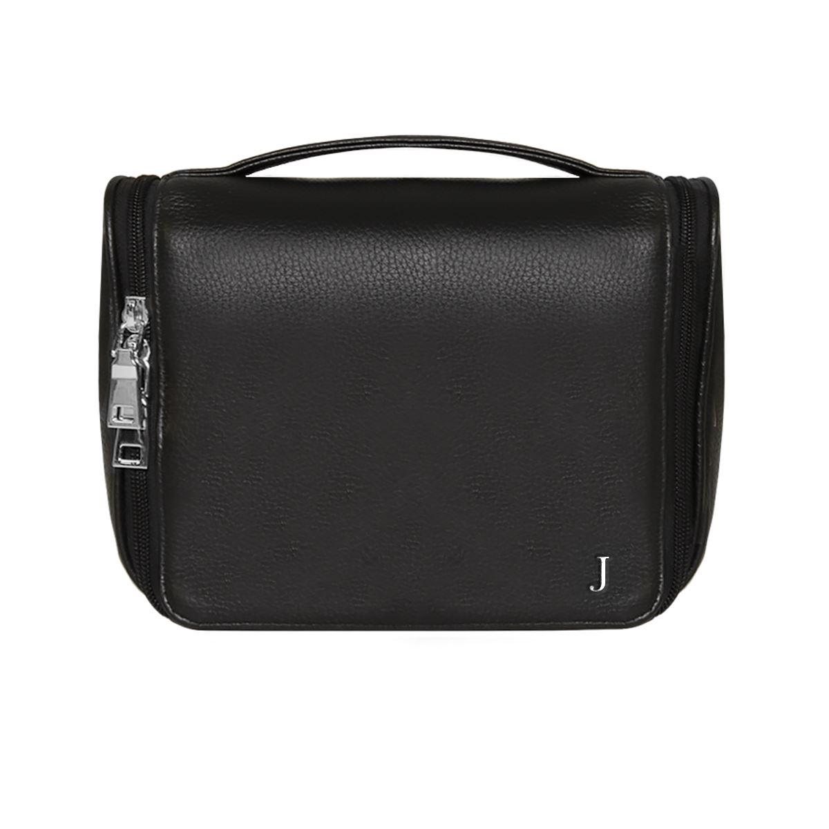 Grainy Leather Travel Wash Bag