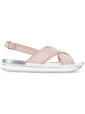 back women sandals platform sandals leather nude shoes