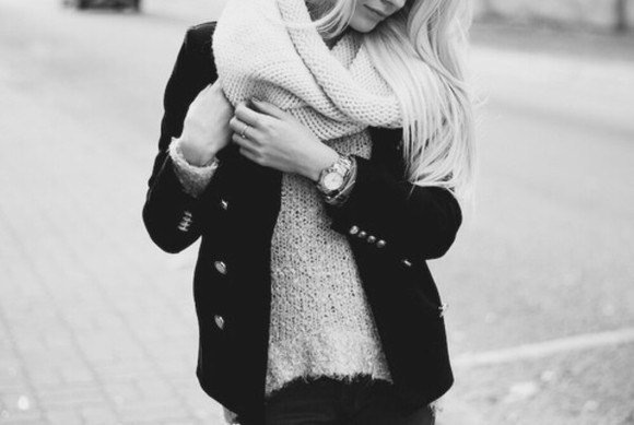 knitwear scarf winter outfits
