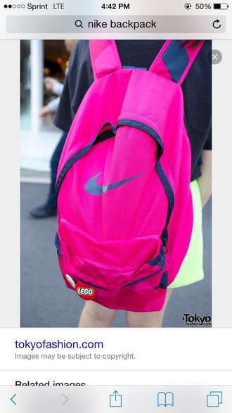 bag nike backpack back to school pink