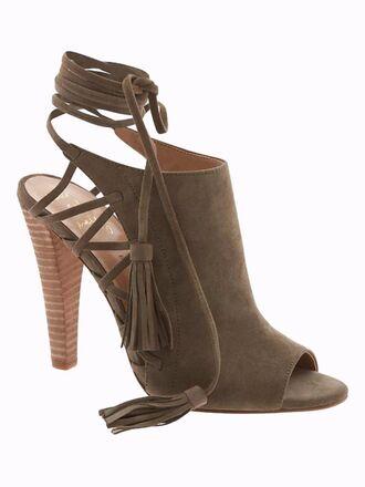 shoes heels high heels sandal heels suede pumps peep toe heels peep toe strappy heels spring accessory banana republic