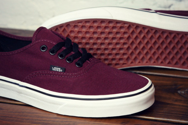 Vans For Girls Maroon