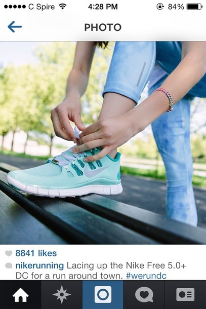 shoes blue shoes nike