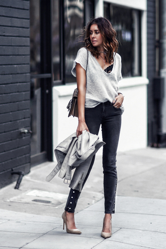 fashionedchic blogger top jeans bag shoes jewels