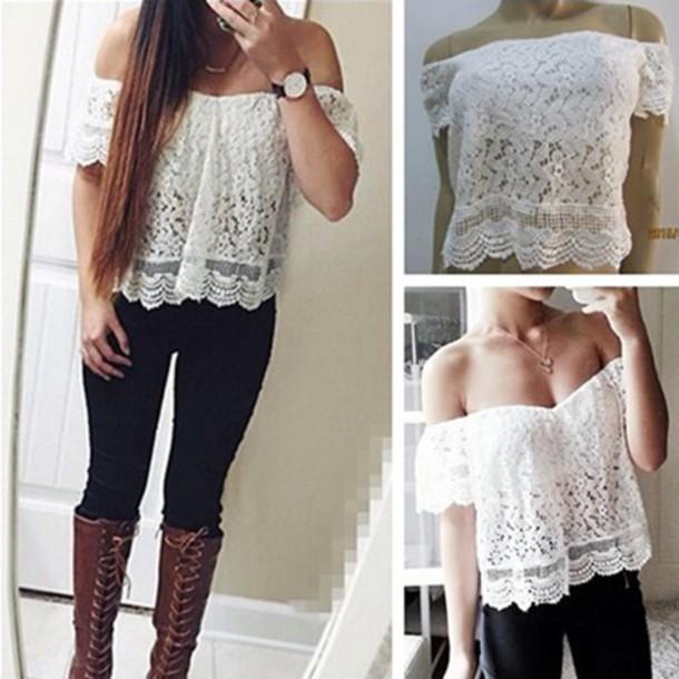 shirt sixkisses women lace