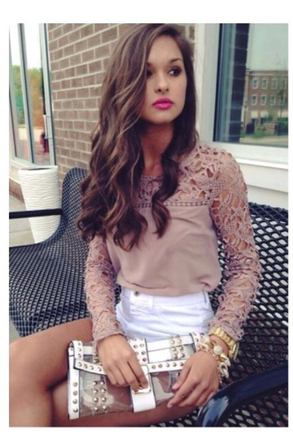 brown lace boho lace top top