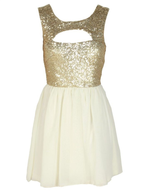dress gold sequins sequin dress glitter dress beige dress cut offs cute dress