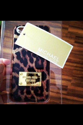 jewels iphone case michael kors leopard print