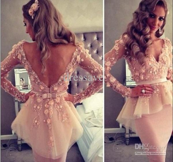 Custom Made Cheap Dress Dusty Rose Lace Long Prom Dresses   Buy Wholesale On Line Direct from China