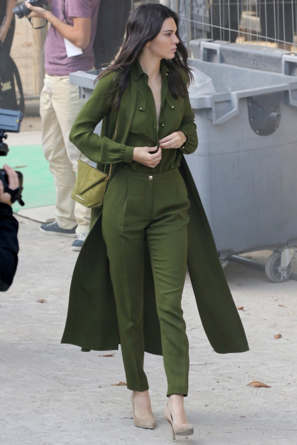 Jumpsuit All Military Green Outfit Army Green Jumpsuit