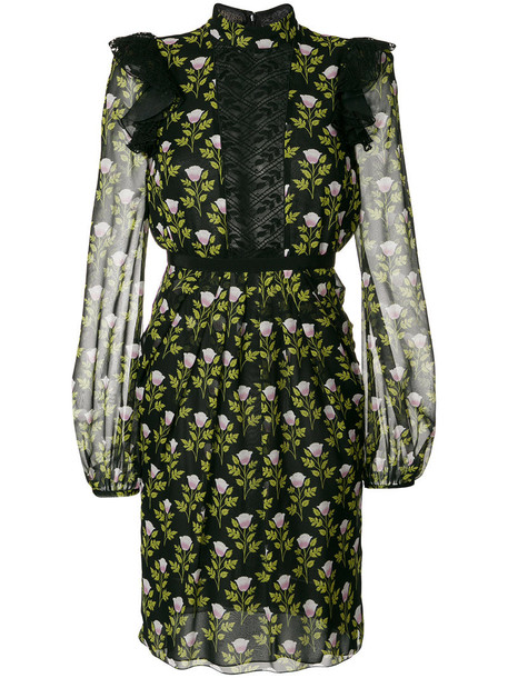 GIAMBATTISTA VALLI dress floral dress women lace floral cotton black silk