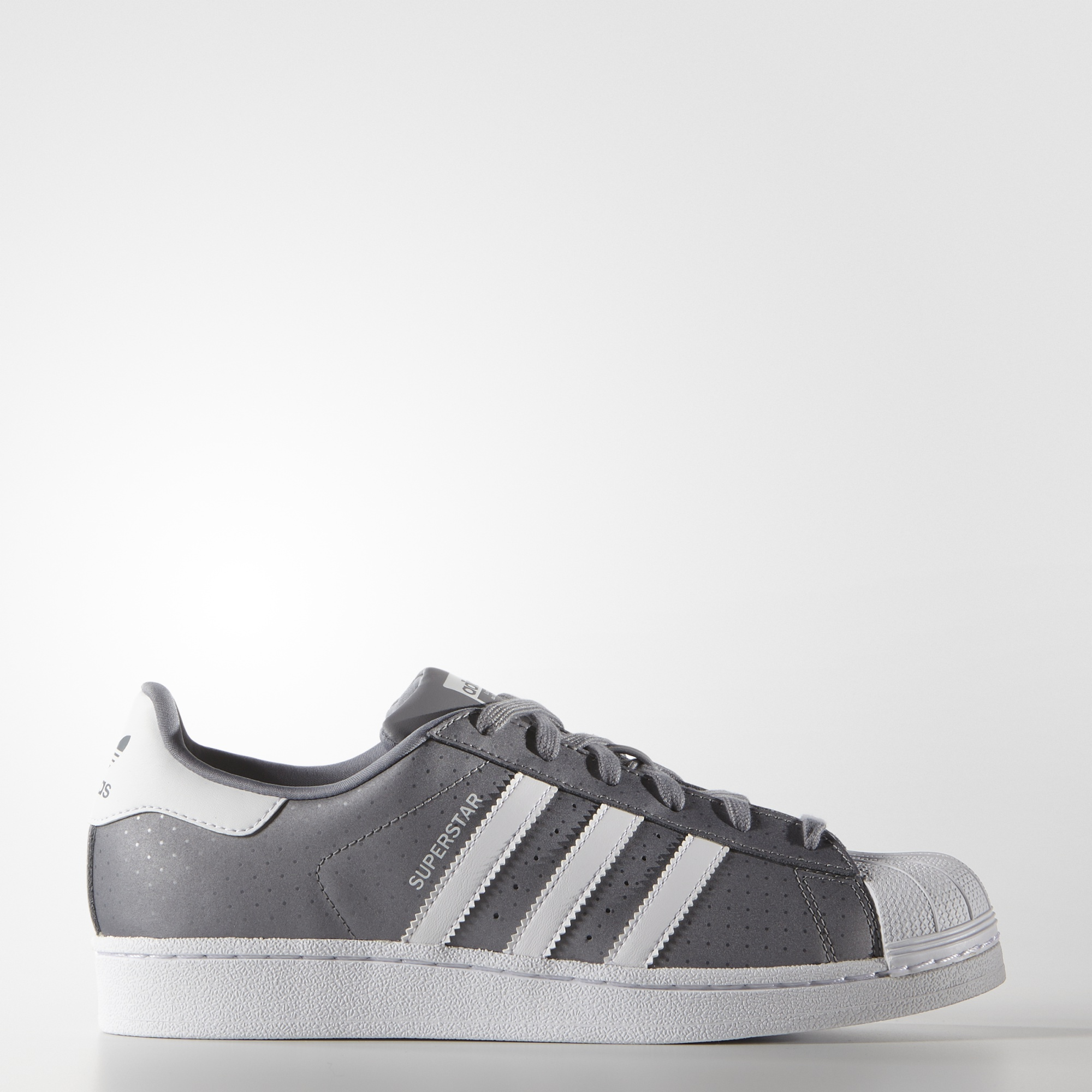 adidas superstar w grijs