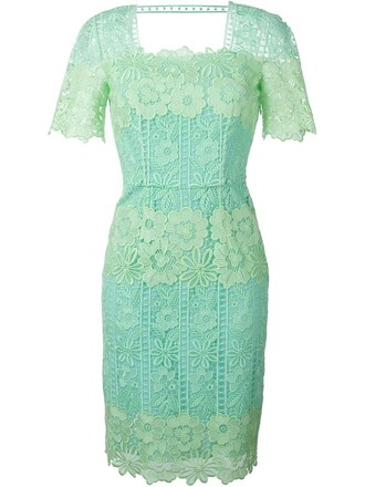 dress embroidered dress embroidered green
