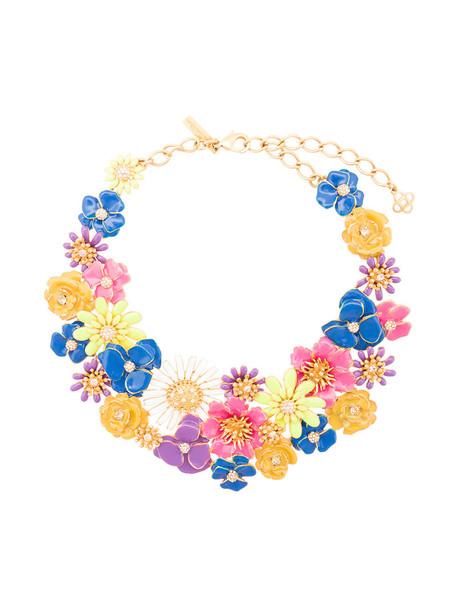 oscar de la renta women necklace floral jewels