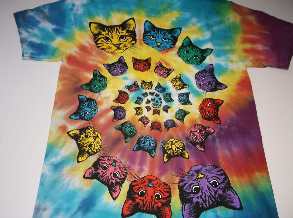Tie dye cat shirt