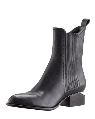 Alexander Wang Anouck Lift-Heel Chelsea Boot, Nickel - Neiman Marcus