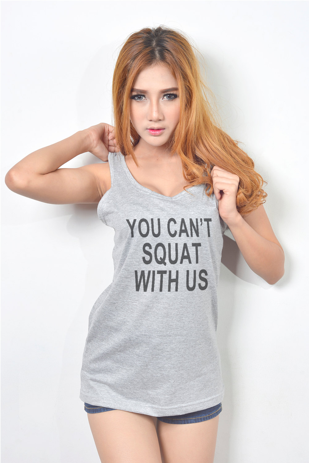 You Cant Squat With Us Tank Top Women Workout Tank Tops