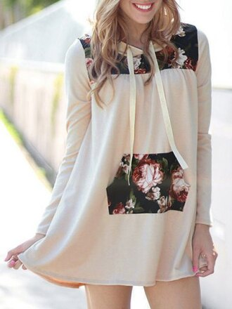 sweater floral fashion hot casual girly cute fall outfits trendy dress top jumper stylish long sleeves adorable outfit clothes
