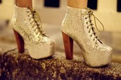 shoes,glitter,gold,heels,platform lace up boots