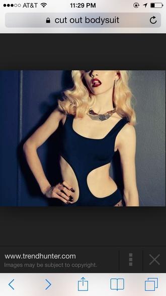 bodysuit top one piece swimsuit