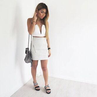 skirt maniere de voir snake embossed zip detailed zipdetail miniskirt leather skirt zipped skirt