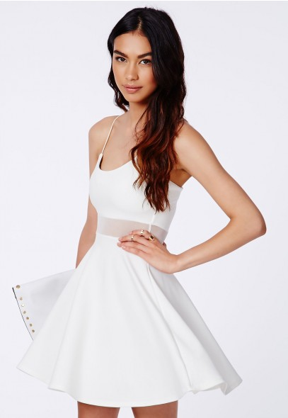 Meshia Strappy Mesh Swing Dress - Swing Dresses - Missguided | Ireland
