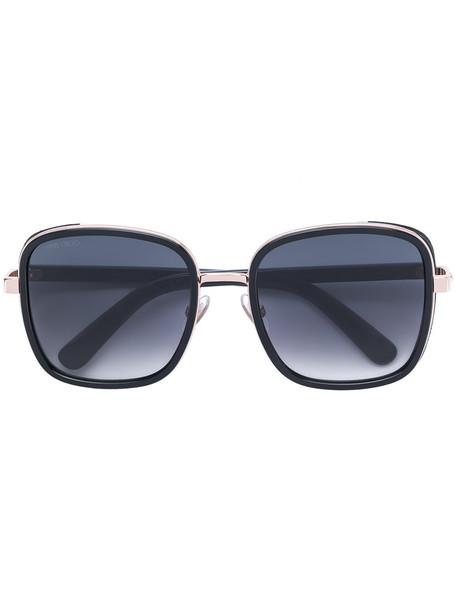 Jimmy Choo Eyewear oversized metal women sunglasses black