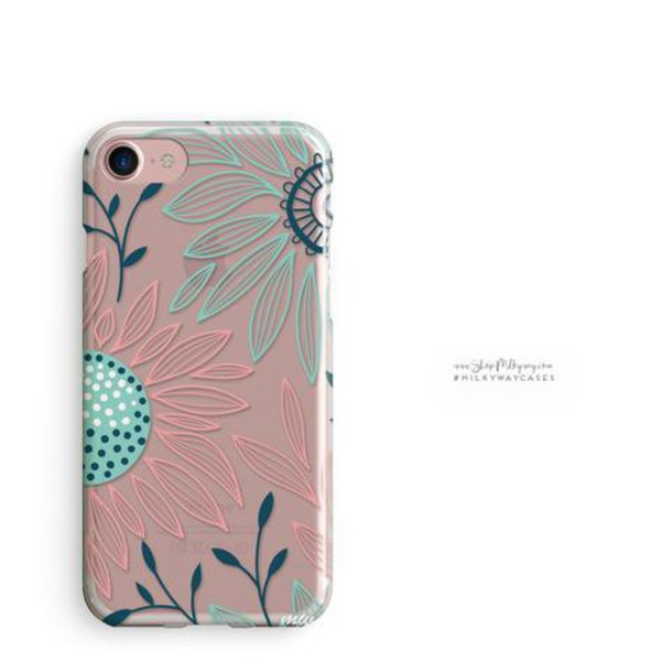 Milkyway Cases CLEAR TPU CASE COVER - FLORAL PATCH