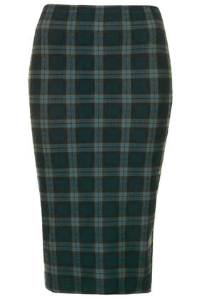 Green Check Tube Skirt - Pencil Skirts - Skirts  - Clothing - Topshop