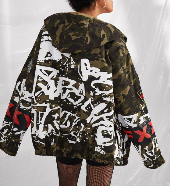 jacket girly oversized sweater oversized camo jacket camouflage printed sweater print