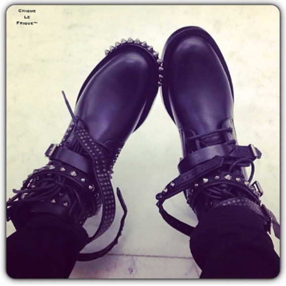 shoes studded shoes saint laurent boots cool style swag