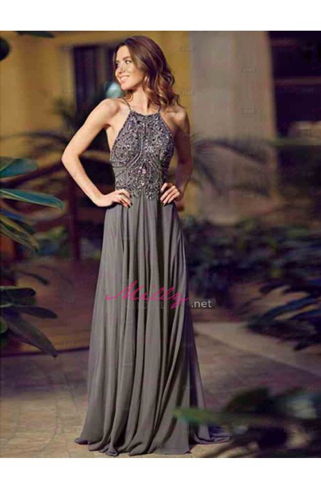 Line spaghetti straps 2015 prom dress at millybridal.net