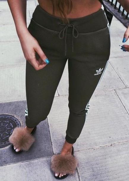pants olive green army green adidas adidas originals joggers pants drawstring sweatpants drawstring pants drawstring joggers fashion green
