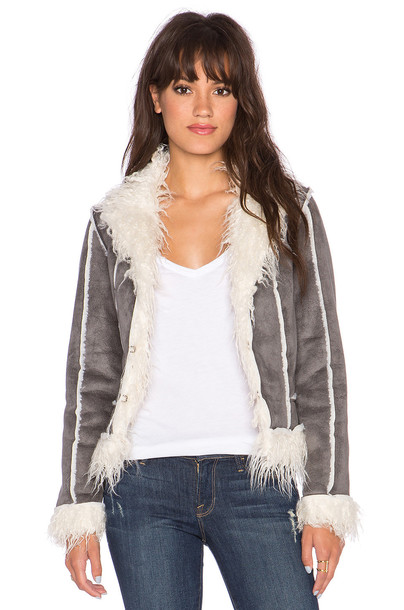 Lucy Paris jacket shearling jacket