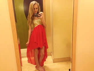 homecoming highlow gold high low homecoming dress coral