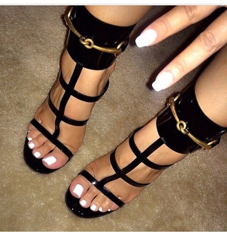 shoes style high heels heels strappy heels black high heels black heels