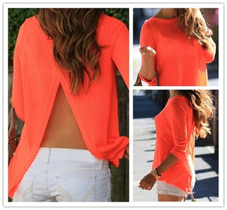 shirt orange neon neon open back shirt neon neon shirt open back open back shirt