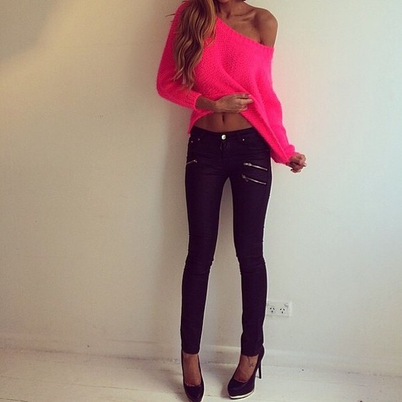 girly zip zipper black fashion jeans black jeans beautiful beauty tights top
